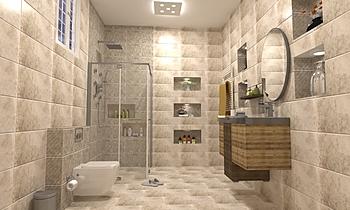 معتصم النعيمى Classic Bathroom Ahmed homestyle
