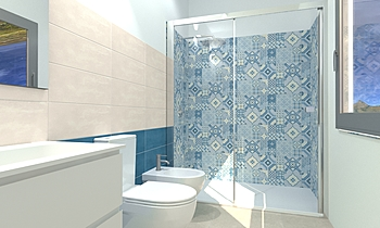 Project Euro Unique + Blo... Modern Bathroom Agenzia UNICA