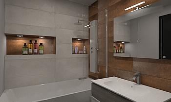 Plaza de la Coronaion Modern Banyo Intuicion Diseño y Construcción sl