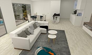 LIVING AREA Modern Living room Feruni Ceramiche Sdn Bhd frspj