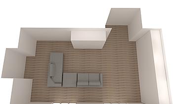SKYLINE Contemporary Living room Alain Rossetti