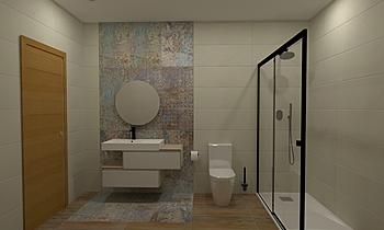 tania e luis wc quartos Classic Bathroom Patrícia Praia