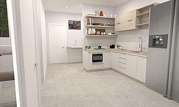 Kitchen floor Klasický Kuchyň Feruni Ceramiche Sdn Bhd frspj