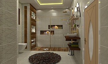 معتصم Modern Bathroom Ahmed homestyle
