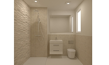 Nairn Ensuite Classic Bathroom tile works design
