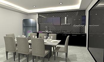 kitchen Classico Cucina Tulakon Arrom