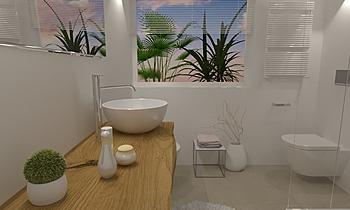 PIANTI WC OSPITI FINESTRA... Modern Bathroom Ceramiche Masala sas