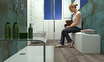 Bagno con Percorso SPA Ge... Modern Banyo Beatrice Dolcetti