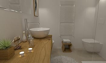 PIANTI WC2 OSPITI Classic Bathroom Ceramiche Masala sas