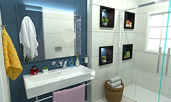 Guest bathroom Modern Bathroom Zarrugh Company