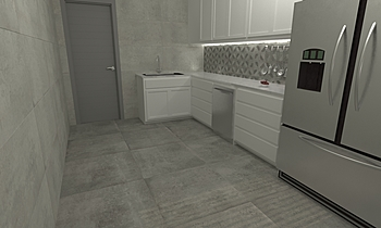Duran Ceniza - Klee Gris Moderno Cucina Virtual Showroom