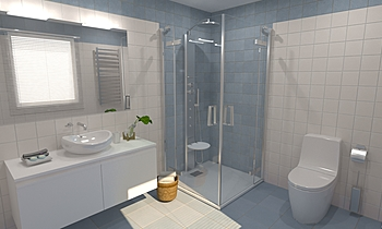 Pop Tile Sixties Celeste ... Modern Bathroom Virtual Showroom