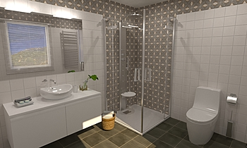Pop Tile Saville _ Nacar Moderní Koupelna Virtual Showroom