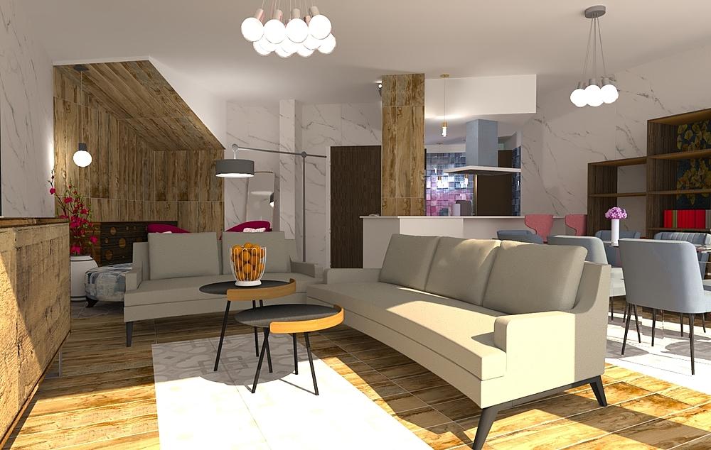 Wiston_2 Contemporary Living room Iliana Ovtcharova