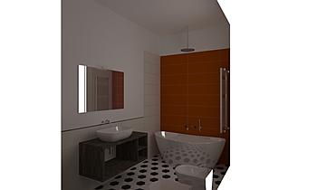 bagno piano terra Contemporary Bathroom NIGRELLI E NIGRELLI