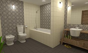 Fez 20x20 - Victorian Bla... Moderní Koupelna Virtual Showroom
