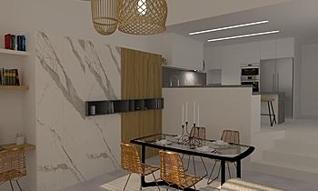 Casa 56 Contemporary Dining room Aurum  Construcciones