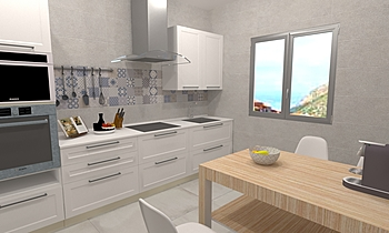 Cocina color blanco (whit... Contemporary Keuken BdB  TELLO DE ARCO