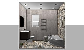 TRIAL - The Cloisters - M... Modern Bathroom Kirsty Farrugia