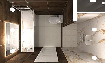 Санузел с душем (4K) 9.1 Contemporary Bathroom VLADIMIR MIKITIN