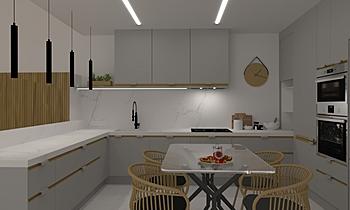 Casa 56 2 Contemporary Kitchen Aurum  Construcciones