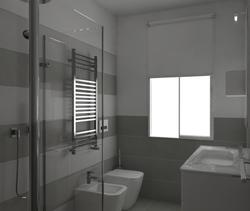 Tilelook ristrutturazione bagno grande con finestra e nicchia per lavatrice a padova - Ristrutturazione bagno padova ...