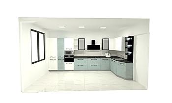 cucina con luci e piastre... Klasyczne Kuchnia Paolo Gaggero