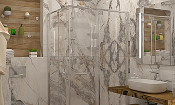 Invisible marble+Sagano a... Classique Salle de bain Kostadin Vlahov