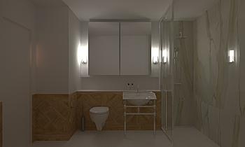 Master 1 Clássico Casa de banho  Ferreira's Architectural Surfaces