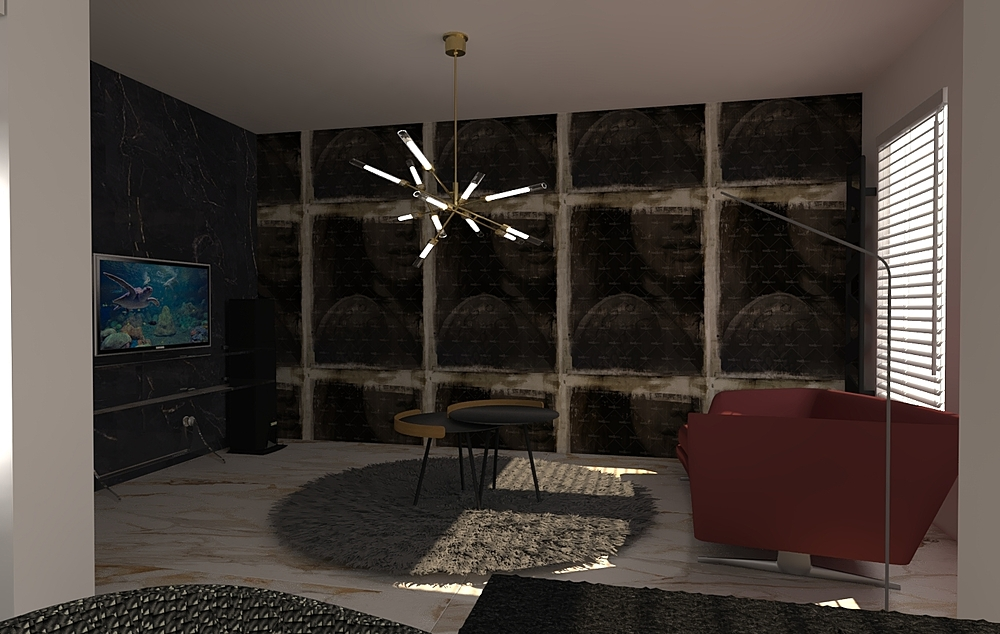 Gurgu_Living room Contemporary Living room Iliana Ovtcharova
