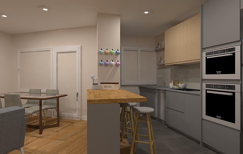 Cocina 1 Modern Kitchen Intuicion Diseño y Construcción sl