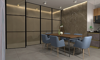 Garruba House3 Modern Cameră de zi Gianluca Landriscina