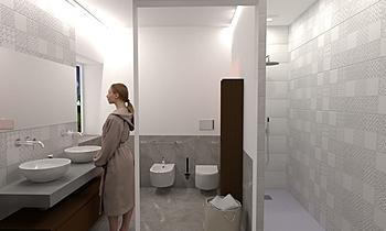 bagno primo piano Çagdas Banyo Lo Presti casa arredo