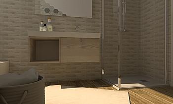 Cementi/esagone Contemporary Bathroom Nunzio Famà