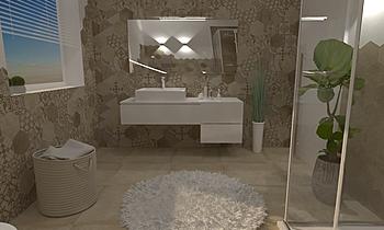 MARAZZI CLAYS , BAGNO, BA... Modern Bathroom Ceramiche Masala sas