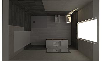Bagno Daniele soluzione B... Modern Fürdőszoba GUIDO SOFFRITTI