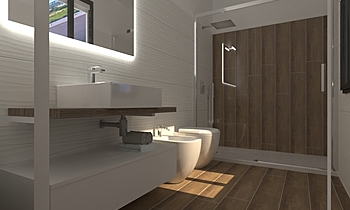 progetto bagno Classic Bathroom Viviana Pusceddu