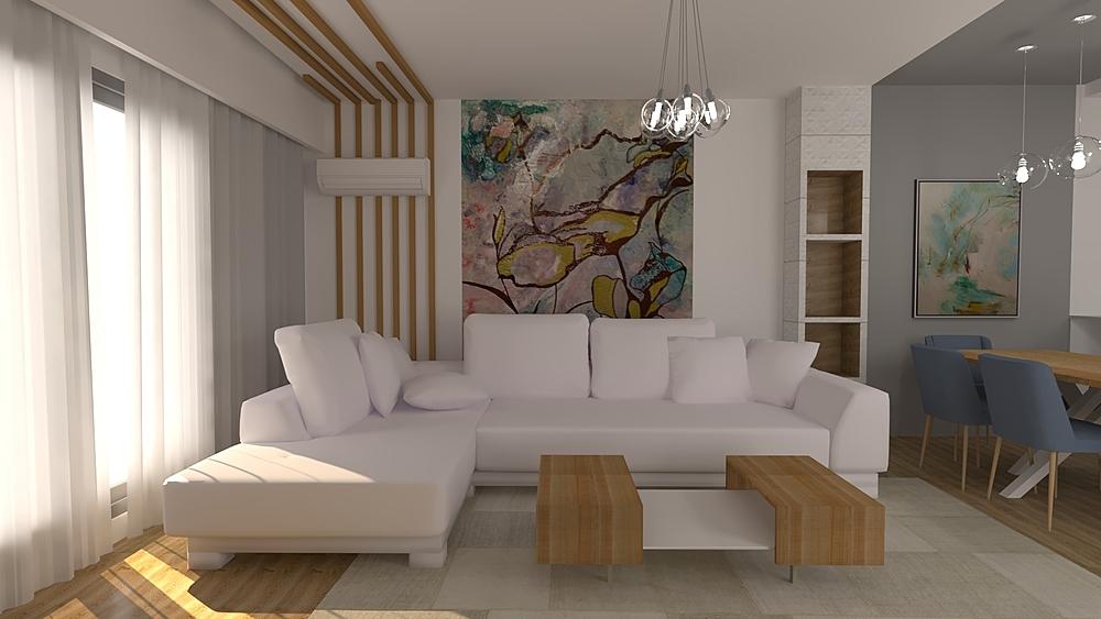 IV Living room Modern Living room Iliana Ovtcharova