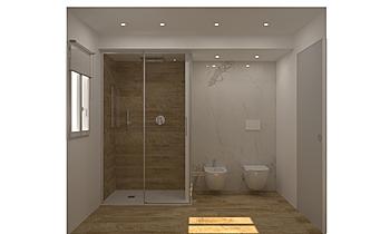 BAGNO P.LE OTHELLO CINNAM... Modern Bathroom Guglielmo Puglisi