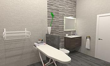Cuarto de baño con lavade... Contemporain Salle de bain BdB  TELLO DE ARCO