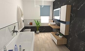 Emiliozzi bagno 2 Modern Bathroom Big Mat Fabio Sbaffi