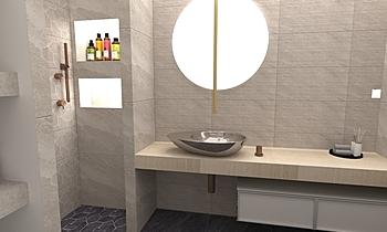 Bagno zona spa Contemporain Salle de bain FABBRI IDROTECNOTERMICA srl FABBRI
