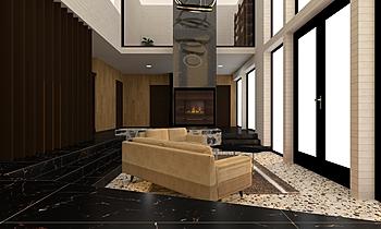 พื้น Classic Living room junair designer 64