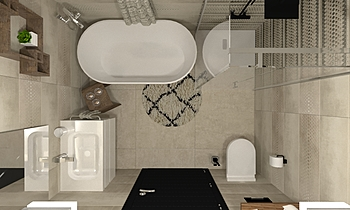 Channel -Tau- Leila  Moderne Salle de bain Terrakotta  Csempecentrum