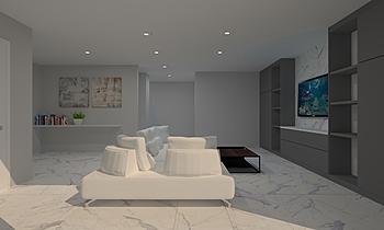 Gordon Tan_living room Moderno Sala Feruni Ceramiche Sdn Bhd