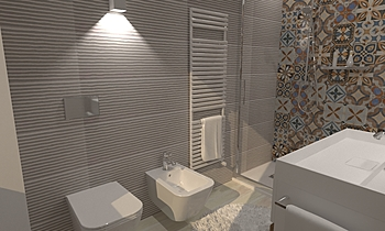 ARGENTA LIGHT STONE,  CER... Modern Bathroom Ceramiche Masala sas