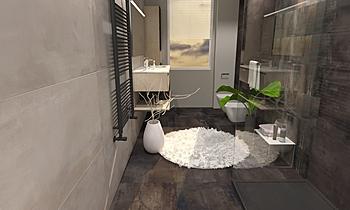 ABK INTERNO 9  , BAGNO MO... Modern Bathroom Ceramiche Masala sas