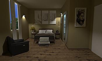 ZONA NOTTE CON BAGNO IN C... Modern Bedroom Ceramiche Masala sas