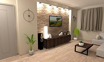 parete giorno Bombacigno Classic Living room Big Mat Fabio Sbaffi