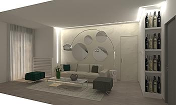 soggiorno pelone Modern Living room FABIANI FEDERICA